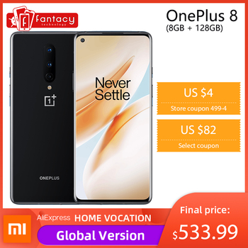 In Stock Global Rom Oneplus 8 5G Smartphone Snapdragon 865 Octa Core 8GB 128GB 6.55'' 3120x1440 90Hz Android 10 30W Charger NFC