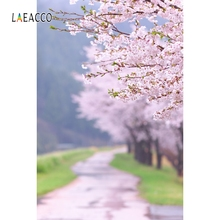 Laeacco Spring Flowers Blooming Trees Landscape Baby Photography Backgrounds Customized Photographic Backdrops For Photo Studio