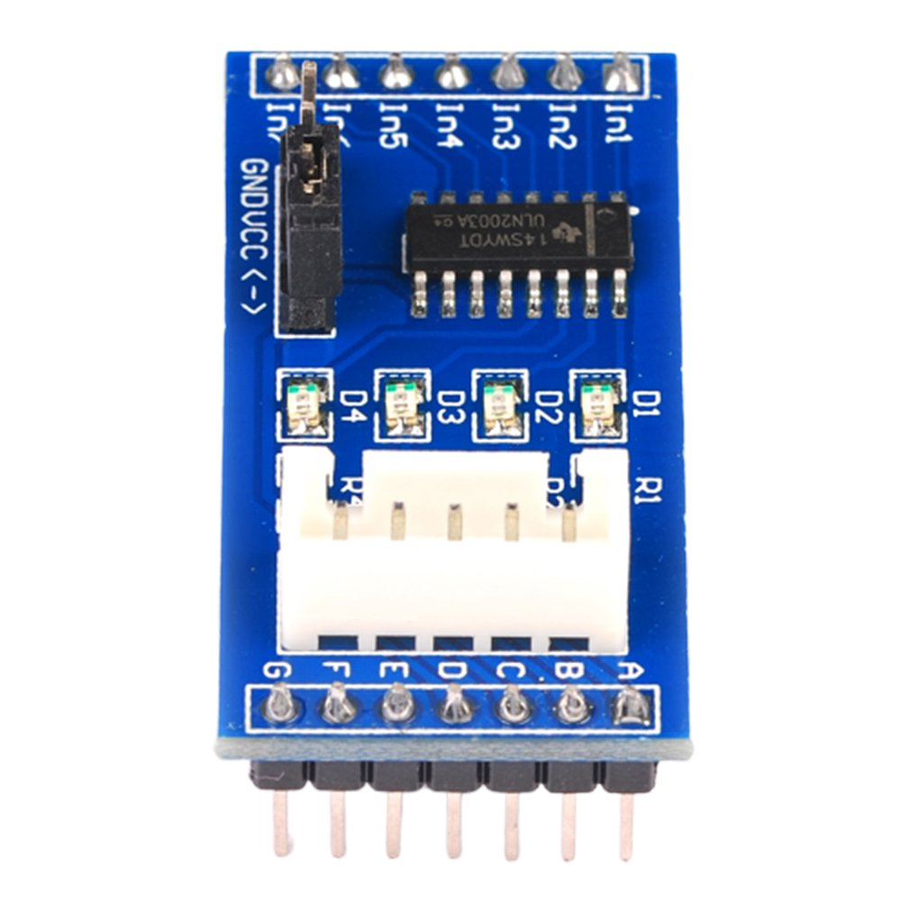 Blue Pcb Board Uln2003 Five-Wire Four-Phase Stepper Motor Drive Module Pin Header Down Drive Board Module
