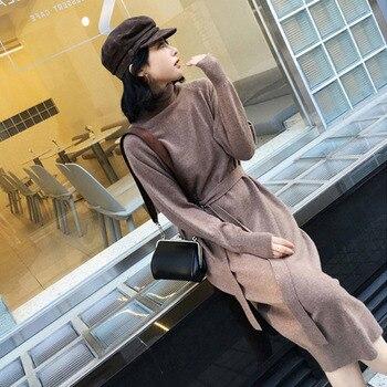 Γυναικείο Χειμωνιάτικο Φόρεμα με ψηλό λαιμό dress autumn winter warm
