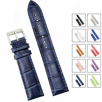 Soft Wrist Belt Bracelet Comfortable Genuine Leather Watch Strap 12/14/16/18/19/20/22/24 mm Watch Pin buckle Band  + Tool leather watchband strap 12 14 16 18 19 20 22 24 mm stainless steel buckle men women replace band watch accessories