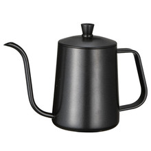 Stainless Steel Mounting Bracket Hand Punch Pot Coffee Pots With Lid Drip Gooseneck Spout Long Mouth Coffee Kettle Teapot- 600ml