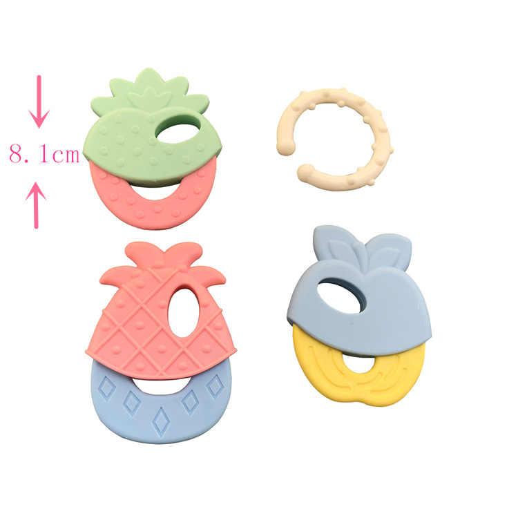 4 ชิ้น/เซ็ตBPAฟรีซิลิโคนTeethersเม็ดซิลิโคนเกรดอาหารDIY Teethingสร้อยคอของขวัญอาบน้ำทารกการ์ตูนสัตว์Teether