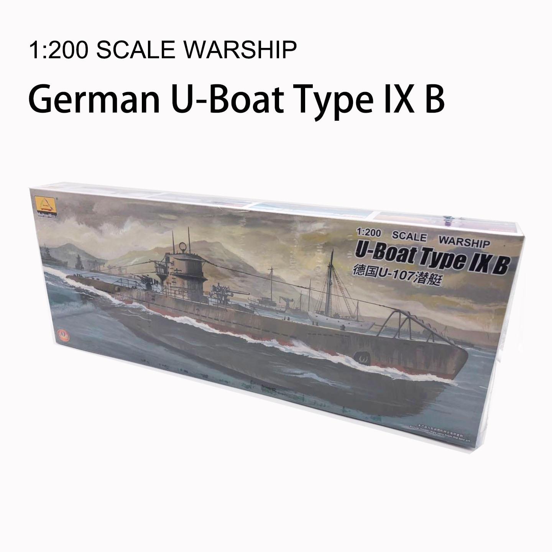 1: 200 Scale Warship World War II U-Boat Type IX B German U-107 Submarine Plastic Assembly Model Electric Toy XC80914