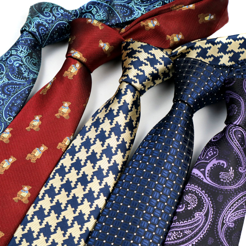 7CM Mens Ties Floral Necktie Paisley Gravata Corbatas Formal Ties For Men Cravate Homme Gift For Men Tie Wedding Business Party