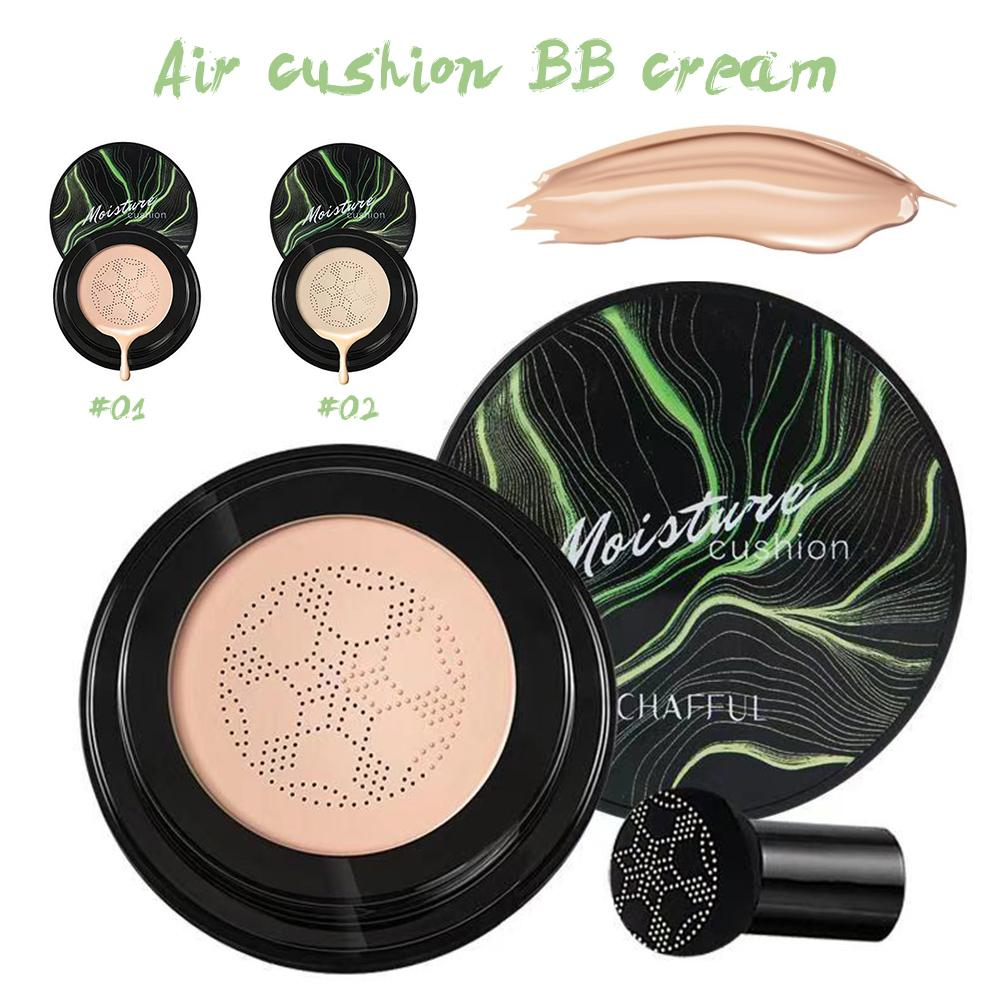 BB Air Cushion Foundation Mushroom Head CC Cream Concealer Whitening Makeup Cosmetic Waterproof Brighten Face Base Tone Tool image