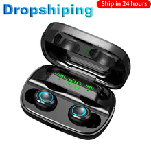 Headphones Earphones Earbuds Tws Touch-Control S11 Bluetooth Wireless 3500mah Noise-Cancel
