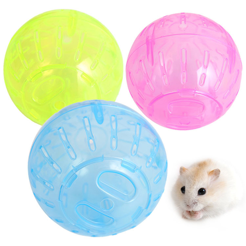Plastic Pet Rodent Mice Jogging Ball Hamster Gerbil Rat Exercise Portable Funny Solid Hamster Running Balls Play Toys Accessory