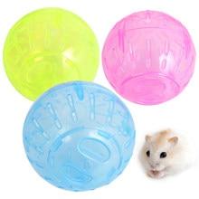 Plastik Pet kemirgen fareler koşu topu Hamster Gerbil sıçan egzersiz taşınabilir komik katı Hamster koşu topları oyun oyuncak aksesuar