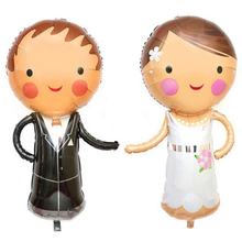 2pcs Couple Foil Balloons Wedding Decoration Helium Ballons Inflatable Toys Mariage Party Supplies Personality Creative Globos