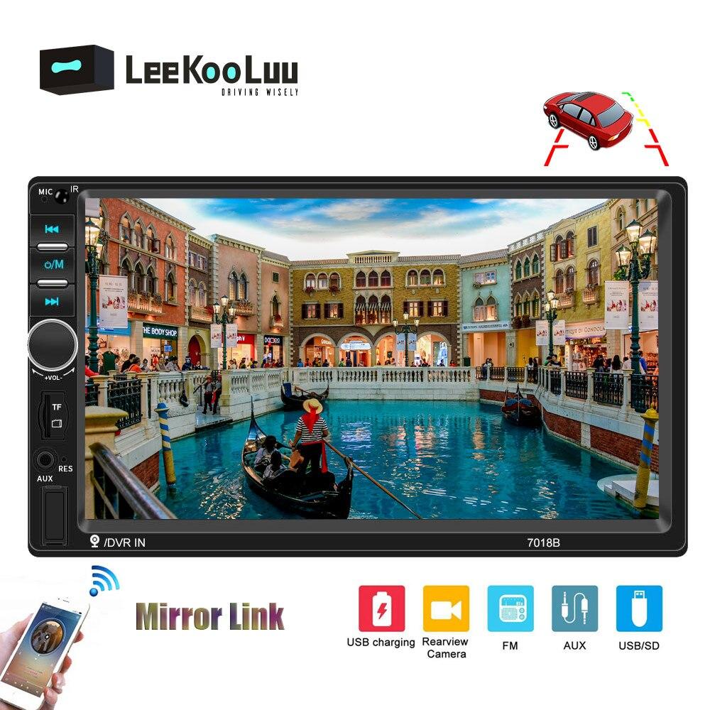 LeeKooLuu 2 Din Car Radio Autoradio Bluetooth 7