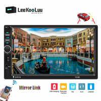 "LeeKooLuu 2 Din Auto Radio Autoradio Bluetooth 7 ""HD player Auto Audio AUX unterstützung Rückansicht Kamera 7018B Auto multimedia-Player"