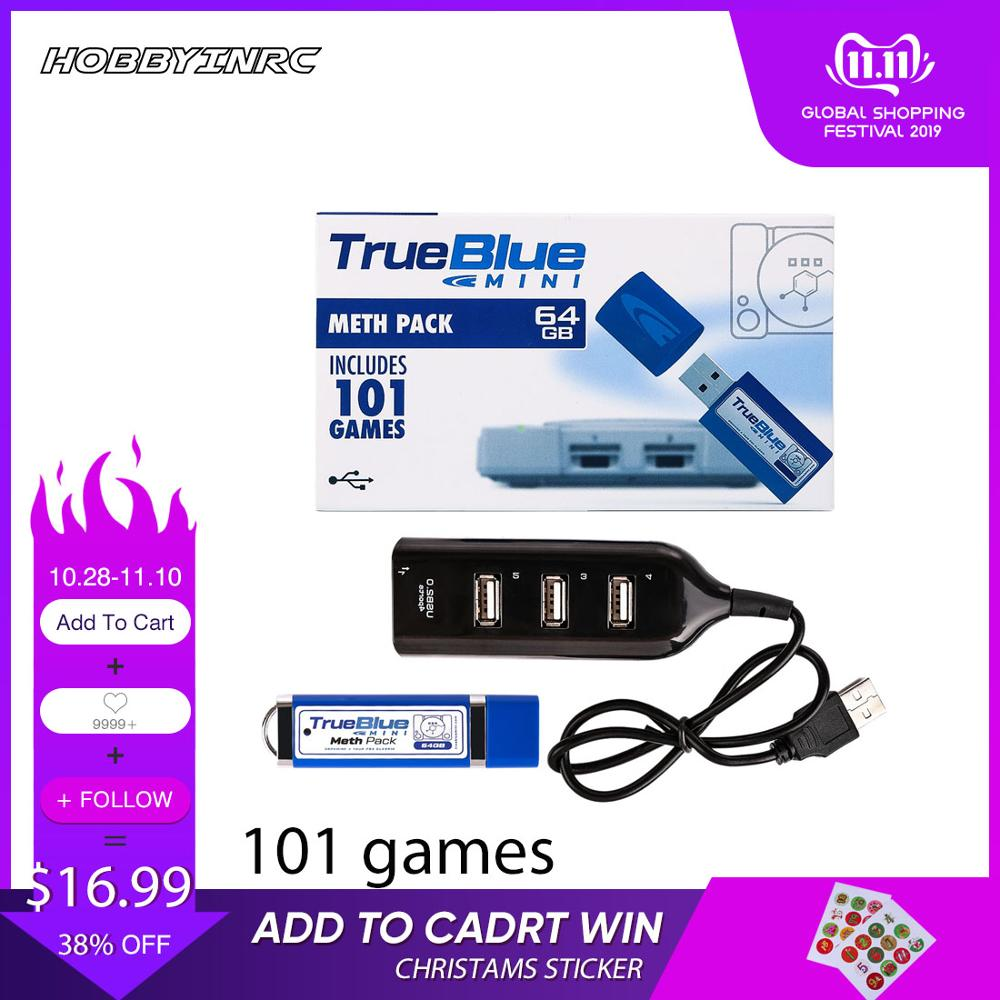 Hobbyinrc  2-players True Blue Mini Meth Pack For PlayStation Classic Games & Accessories 2019 New Arrival (101 Games)V2