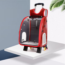 Pet Bag Trolley Transport Transparent Outdoor Travel Dog Cat Windproof Breathable Carrying Backpack Carrier