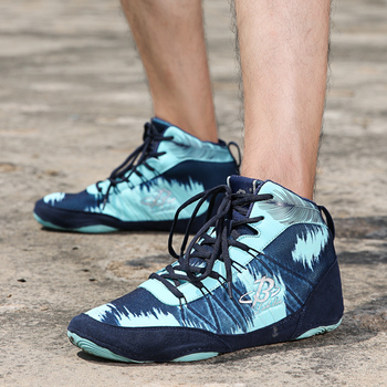 Autentyczne profesjonalne buty bokserskie buty zapaśnicze dla kobiet mężczyzn buty treningowe ścięgna na końcu skórzane trampki Lucha Libre tanie i dobre opinie Merrto Oddychające Wysokość zwiększenie Masaż Dla dorosłych Spring2019 Pasuje prawda na wymiar weź swój normalny rozmiar