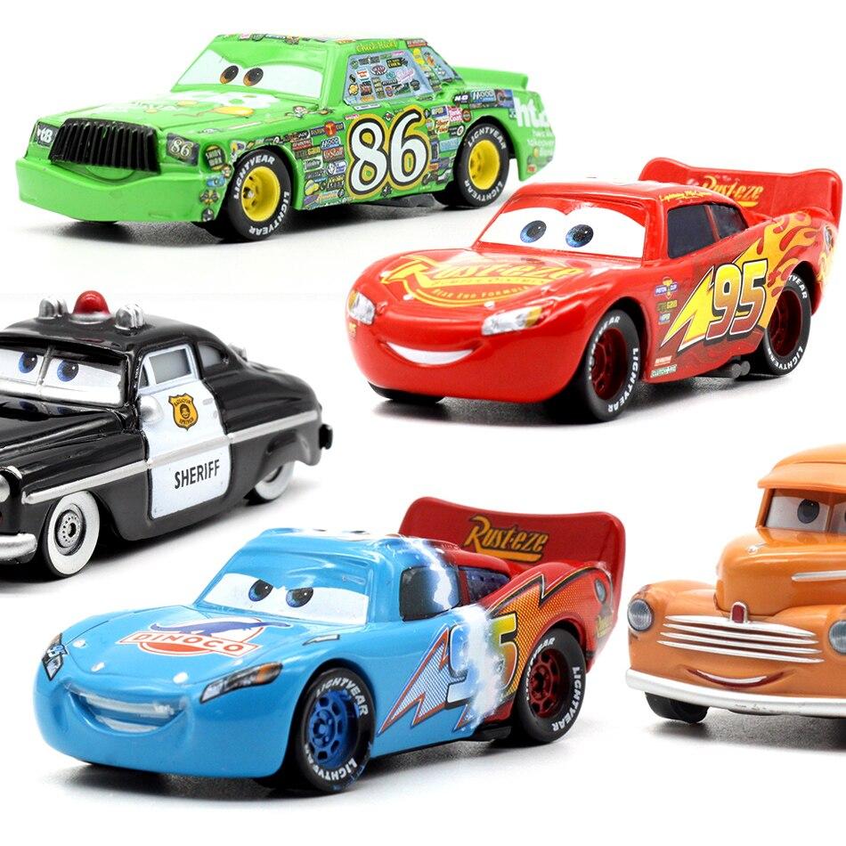 Car Disney Pixar Cars 12 3 Role Zundapp Professor McQueen Jackson Storm Mater 1:55 Diecast Metal Alloy Model Car Toy Kid Boy Car