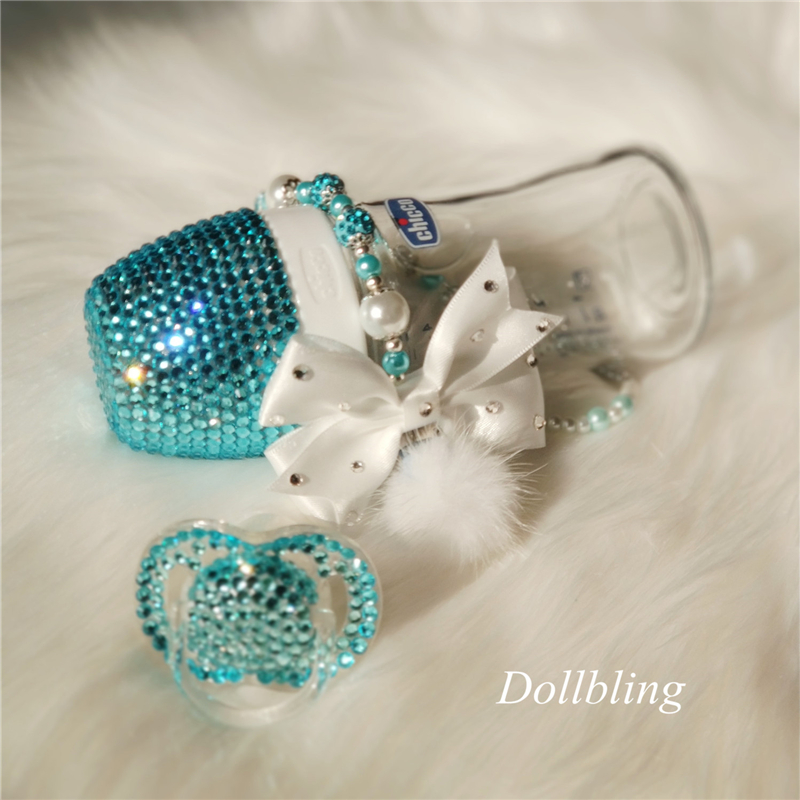 Luxury Bling Rhinestone Baby Pacifier Newborn Infant Baby Silicone Orthodontic Pacifier Nipple Sleep Soother Drop Shipping