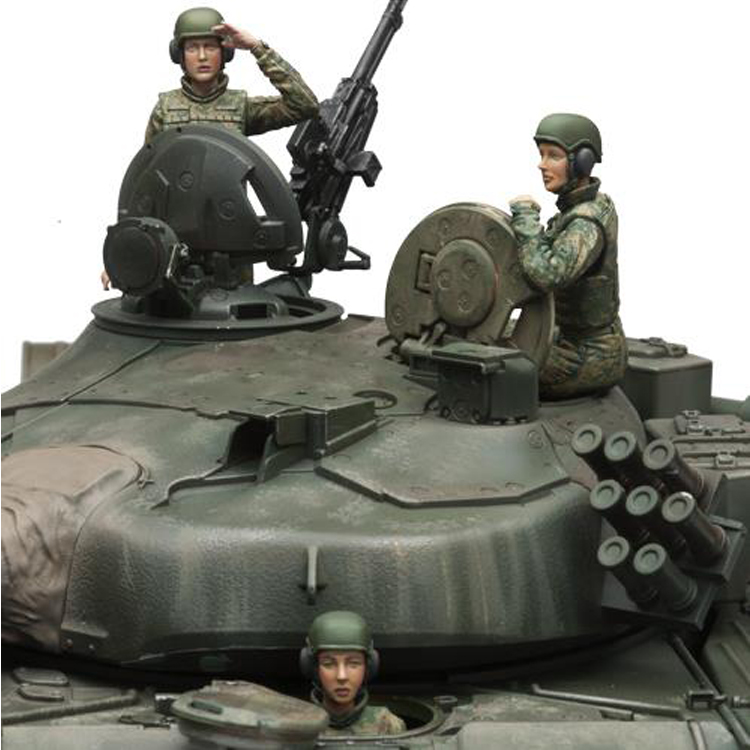 1/16 Resin Soldier Model Modern Russian Tank Female Soldier 3pcs 456 image