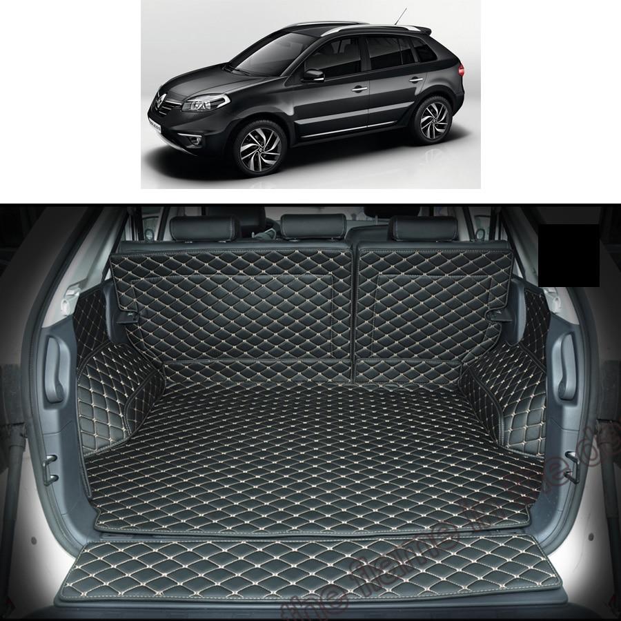lsrtw2017 for renault koleos leather car trunk mat cargo liner 2007 2008 2009 2010 2011 2012 2013 2014 2015 samsum qm5 carpet   - title=
