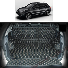lsrtw2017 for renault koleos leather car trunk mat cargo liner 2007 2008 2009 2010 2011 2012 2013 2014 2015 samsum qm5 carpet