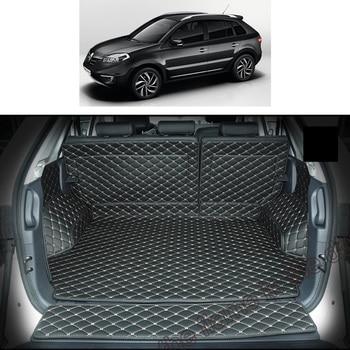 lsrtw2017 for renault koleos leather car trunk mat cargo liner 2007 2008 2009 2010 2011 2012 2013 2014 2015 samsum qm5 carpet цена 2017