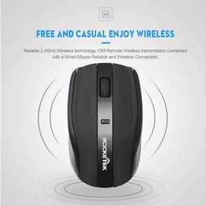 Image 4 - Rocketek USB Wireless Mouse 2.4G 1600DPI 3 buttons ergonomic for imac pro macbook laptop computer pc optical mini mice silent