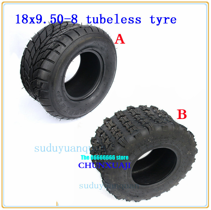 18x9.5-8 ( 240/55-8 ) 8 inch ATV Quad Go-kart tubelesss Off-road tires18x9.50-8 Electric Scooter Tires For Harley Chinese Bike image
