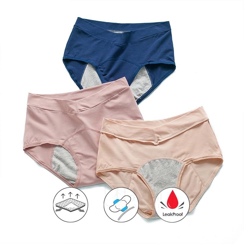 Leak Proof Menstrual Panties Women Incontinence Underwear Period Pants Menstruation Warm Cotton Panty Breathable Female Brief Aliexpress