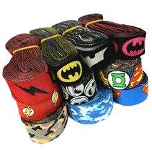 5YARD 16MM 22MM Superhero Camouflage Cartoon Woven Jacquard Ribbon For Dog Collar