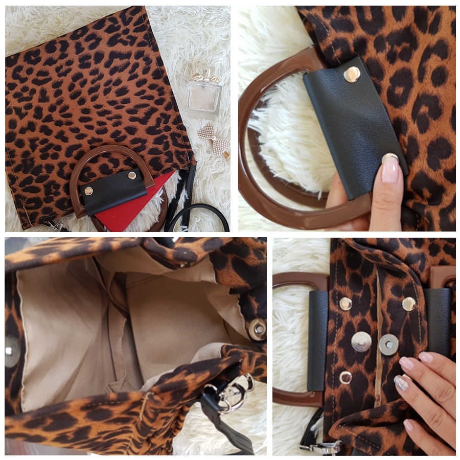 Bolso de leopardo para mujer 2019, bolsos de lujo para mujer, diseño con asa, bandolera, gran oferta