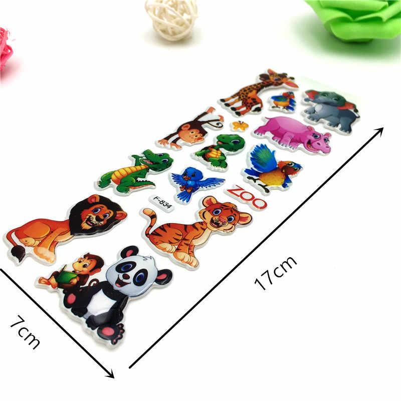 Happyxuan 50 枚かわいい子供 3D ふくらんステッカー動物車漫画海の魚ボーイズギフト学校教師の報酬スクラップブッキング玩具