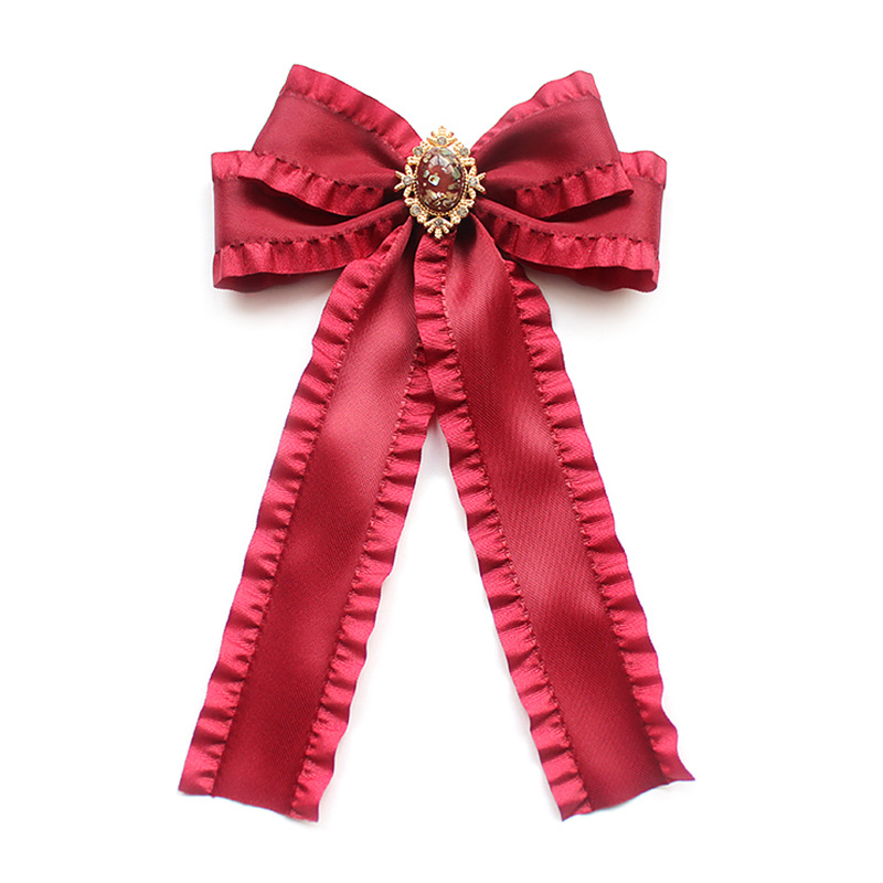 Korean Fashion New Red Bow Tie Necktie Blouse Skirt Ribbon Big Bowtie Girl's Womans Clothing Fashionable Accessories