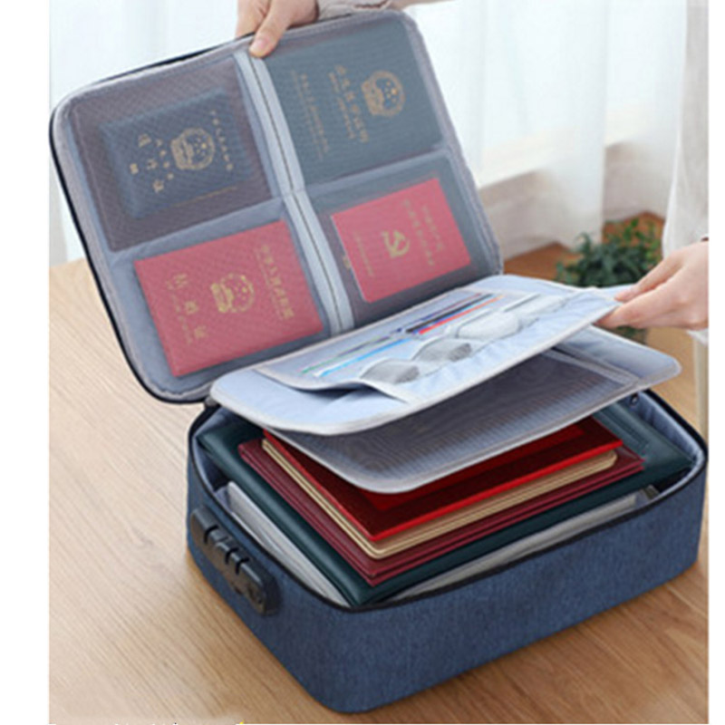 Document Ticket Bag Large Capacity Certificates Files Organizer For Home Travel Important Items PR Sale