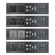 Alliage daluminium multimédia USB Audio VGA réseau HDMI Interface royaume uni/ue/états unis/CN prise électrique carte dalimentation chine adaptateur de prise