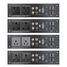 Мультимедийный интерфейс HDMI, USB аудио, VGA, сетевой интерфейс, Великобритания/ЕС/США/китайская электрическая розетка, адаптер питания, алюминиевый сплав