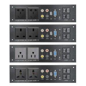Image 1 - Liga de alumínio multimídia, usb vga, rede hdmi, interface uk/eu/us/cn tomada elétrica placa de energia china plug adaptador