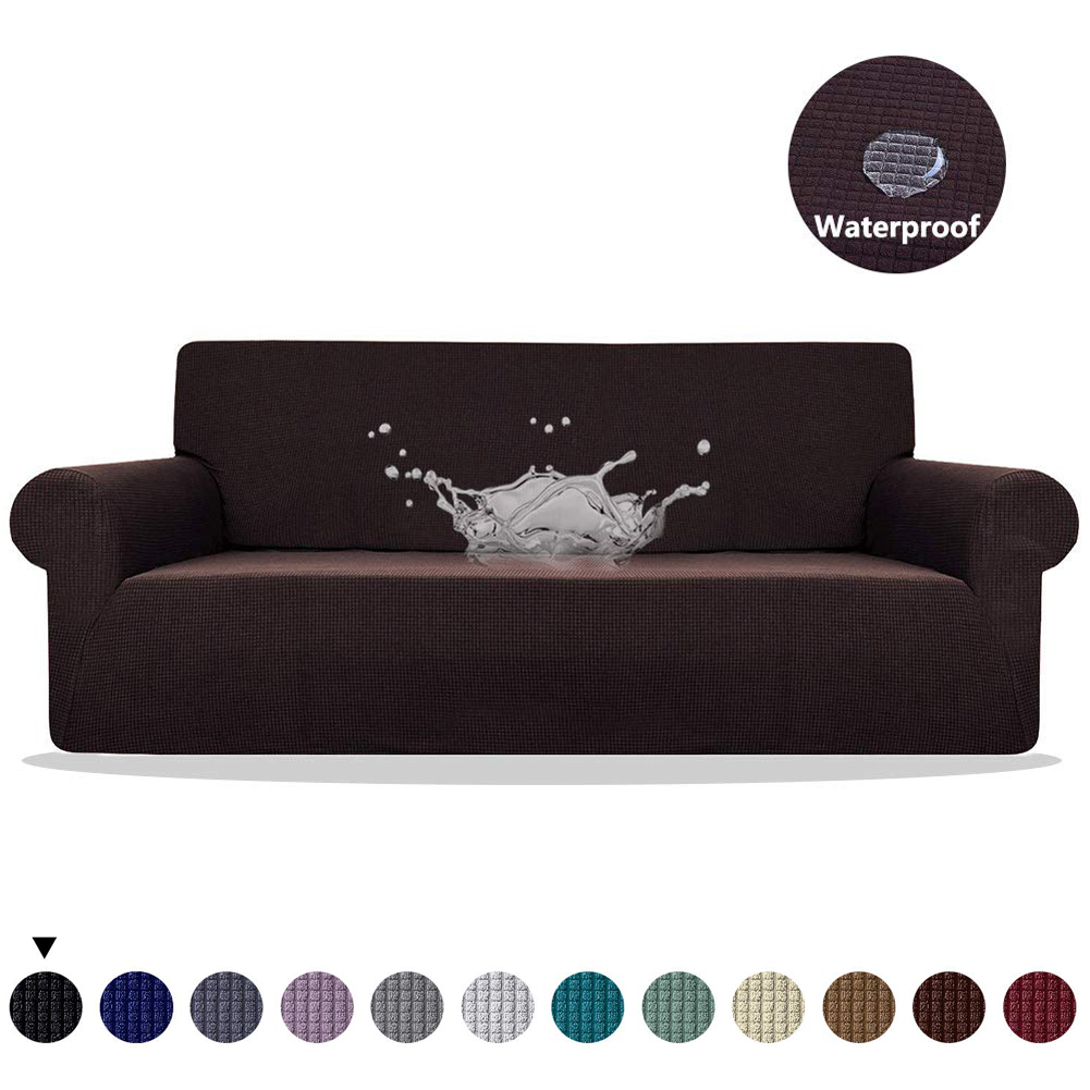 MEIJUNER Waterproof Sofa Cover in Solid Color with High Stretchable Slipcover for Dining Room