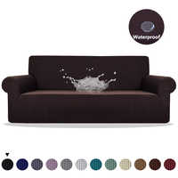Meijuner Sofa Cover Waterproof Solid Color High Stretch Slipcover All-inclusive Elastic Couch Cover Sofa Covers For Dining Room