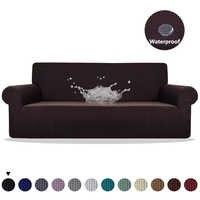 Meijuner housse de canapé imperméable couleur unie haute housse extensible tout compris élastique housse de canapé housses de canapé pour salle à manger