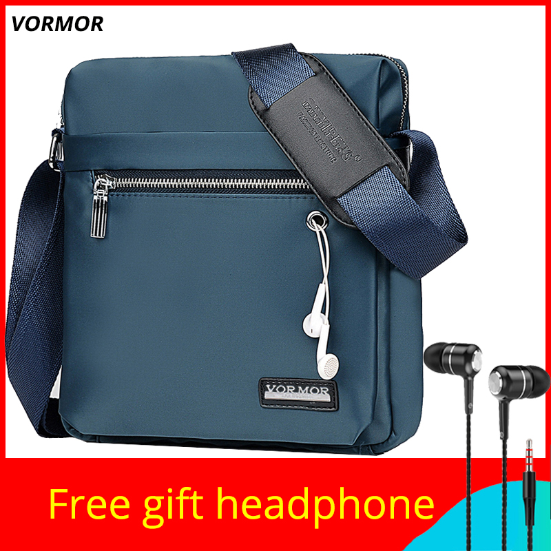 VORMOR Classic O Design Business Man Bag Vintage Brand Mens Messenger Bag Casual Grid Shoulder Bag For Male Bolsa Hot