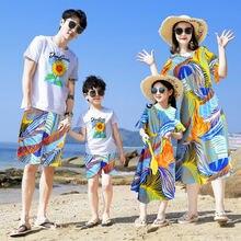 Летняя сочетающаяся семейная одежда 2020 пляжные платья с надписью