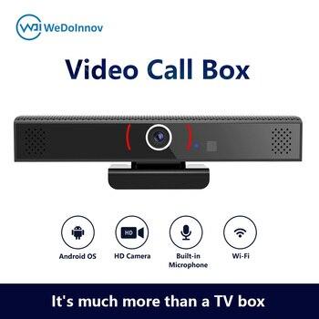Câmera de rede vídeo player caixa de bate-papo de vídeo android definir caixa superior zoom skype vídeo conferência tudo em uma máquina