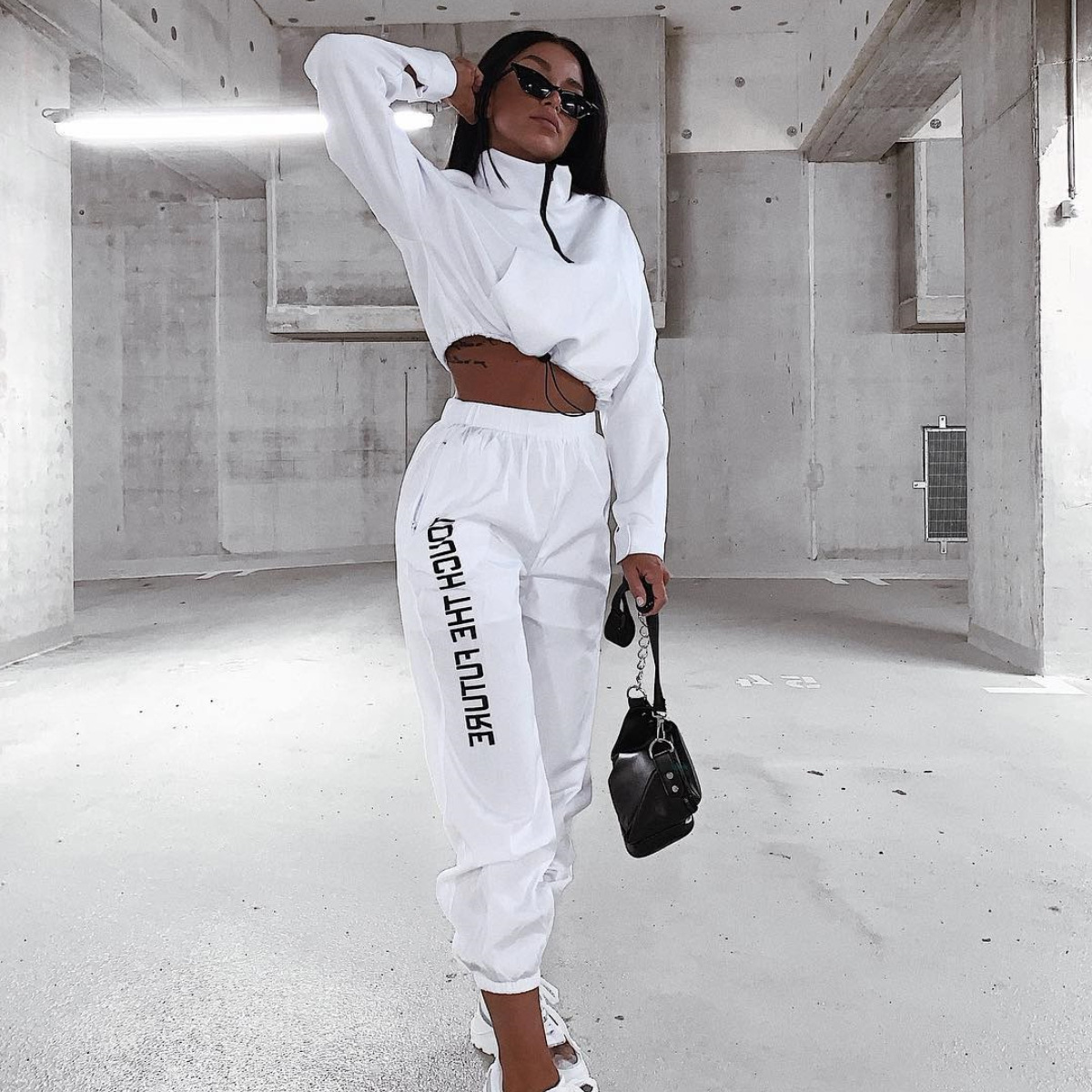 Two-piece Set Street 2019 Spring Autumn New Women's Sports Sweater And Jogging Casual Pants Fashion Classic Running Sports Suit
