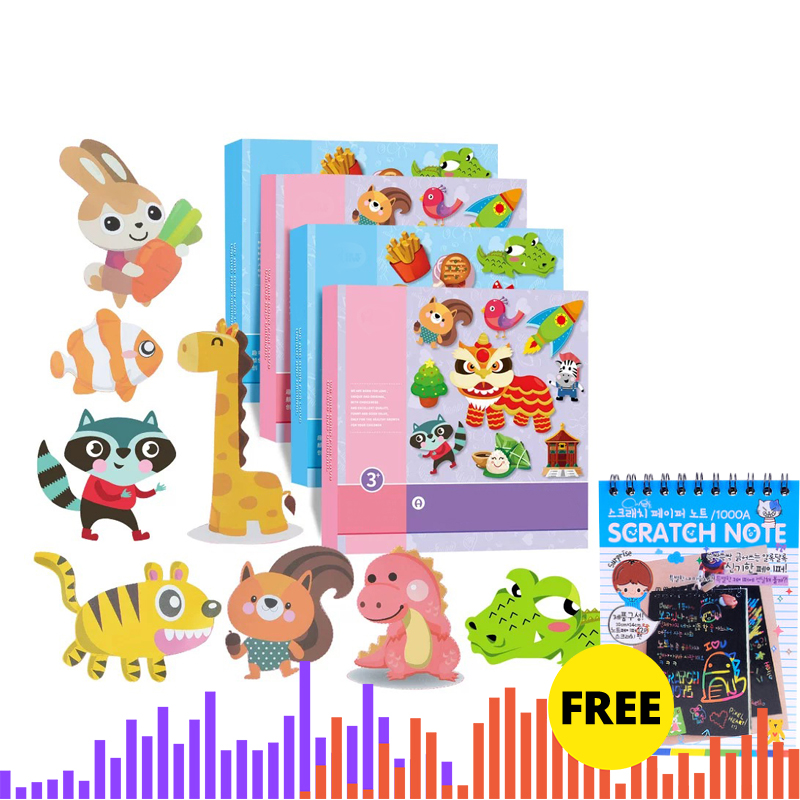 Kids Cartoon Color Paper Folding And Cutting Toys For Children Kingergarden Art Craft DIY Educational Toys, Free Shipping Gift