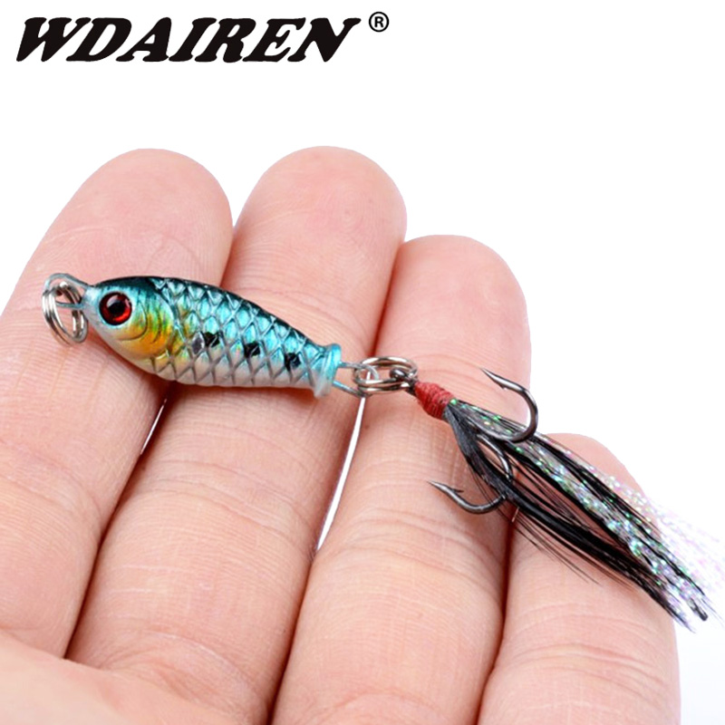 1Pcs Metal Spinner Jig Hard Bait 3mm 4.5g Saltwater Jigging lead Fishing Lure With feather treble hook Sinking Bait Crap Tackle