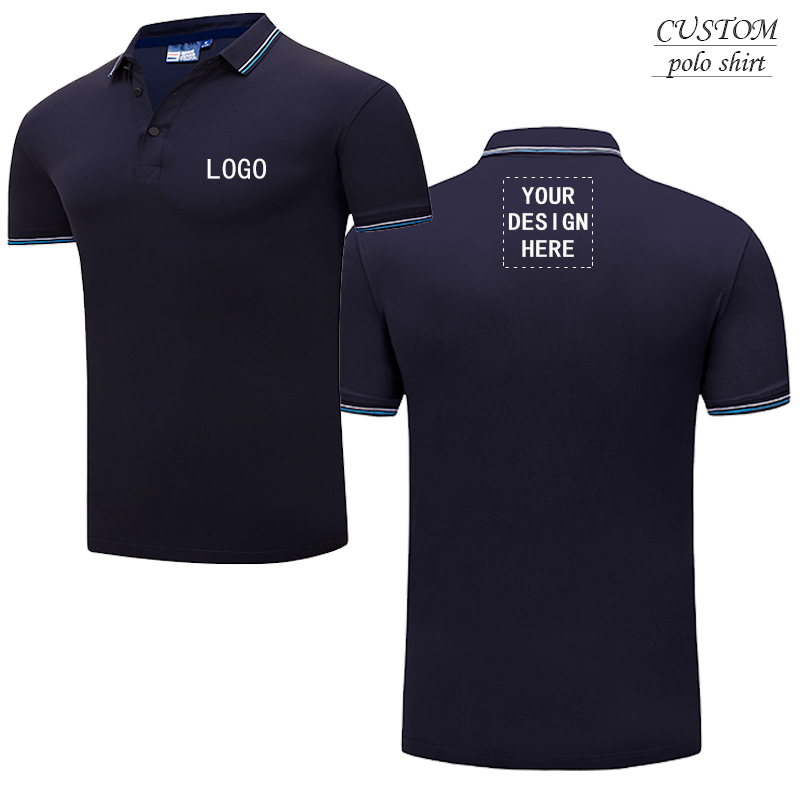 Personalised polo shirts Custom Embroidered with your text name or  logo - Free Logo Setup