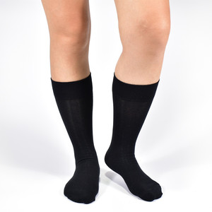 Image 4 - Black Socks Mens Solid Color Combed Cotton Socks High quality Long Autumn and winter Casual Dress Mens Socks