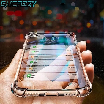 Перейти на Алиэкспресс и купить Противоударный прозрачный чехол-бампер для Cat S52 S 52, усиленный прозрачный силиконовый чехол для телефона Cat S52, мягкий чехол