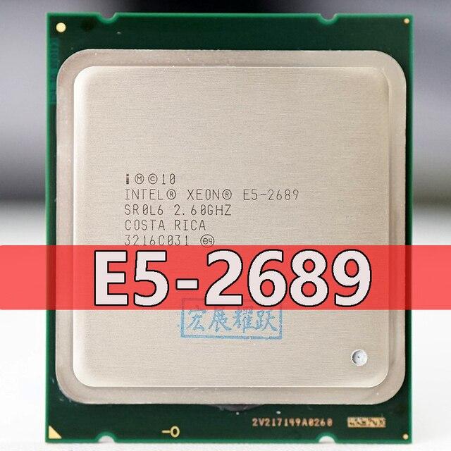 Processador intel xeon E5 2689 e5 2689 cpu 2.6 lga 2011 srol6 processador de desktop oito núcleo cpu 100% trabalho normal