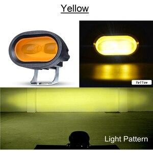 Image 2 - Arbeit Licht 20W LED Sopot Lampe 6D Driving Truck 12V 24V Hilfs Universal Bernstein Gelb Weiß Off straße Motorrad Nachrüstung